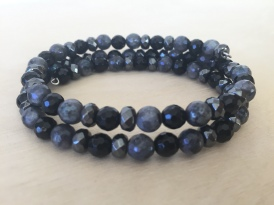 Labradorite-Black-Onyx-Hematite-Memory-Wire-Bracelet-Front